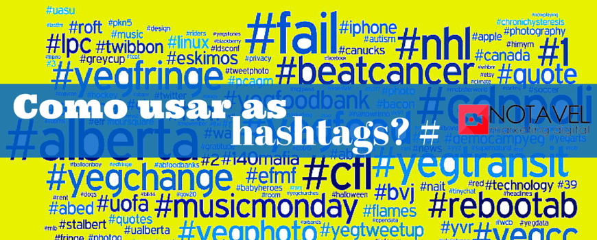 Como usar as hashtags