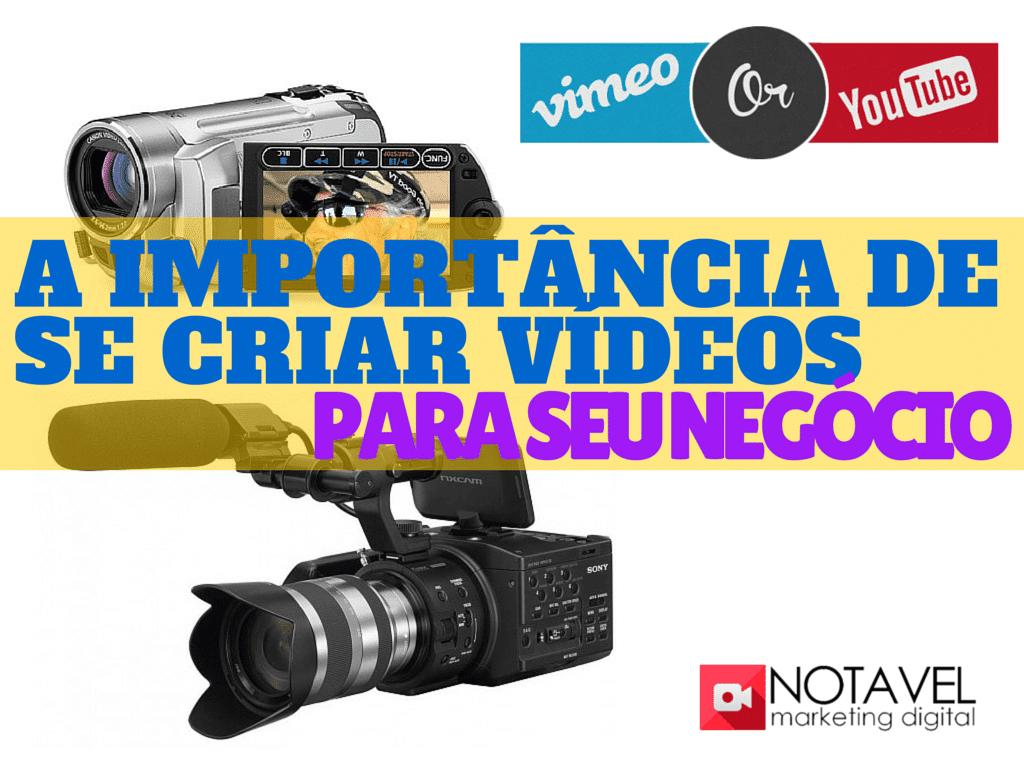 a importancia de se criar videos para seu negocio