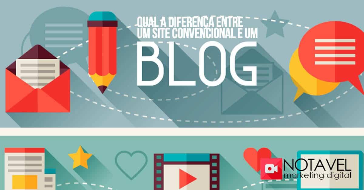 qual diferenca entre um site convencional e um blog