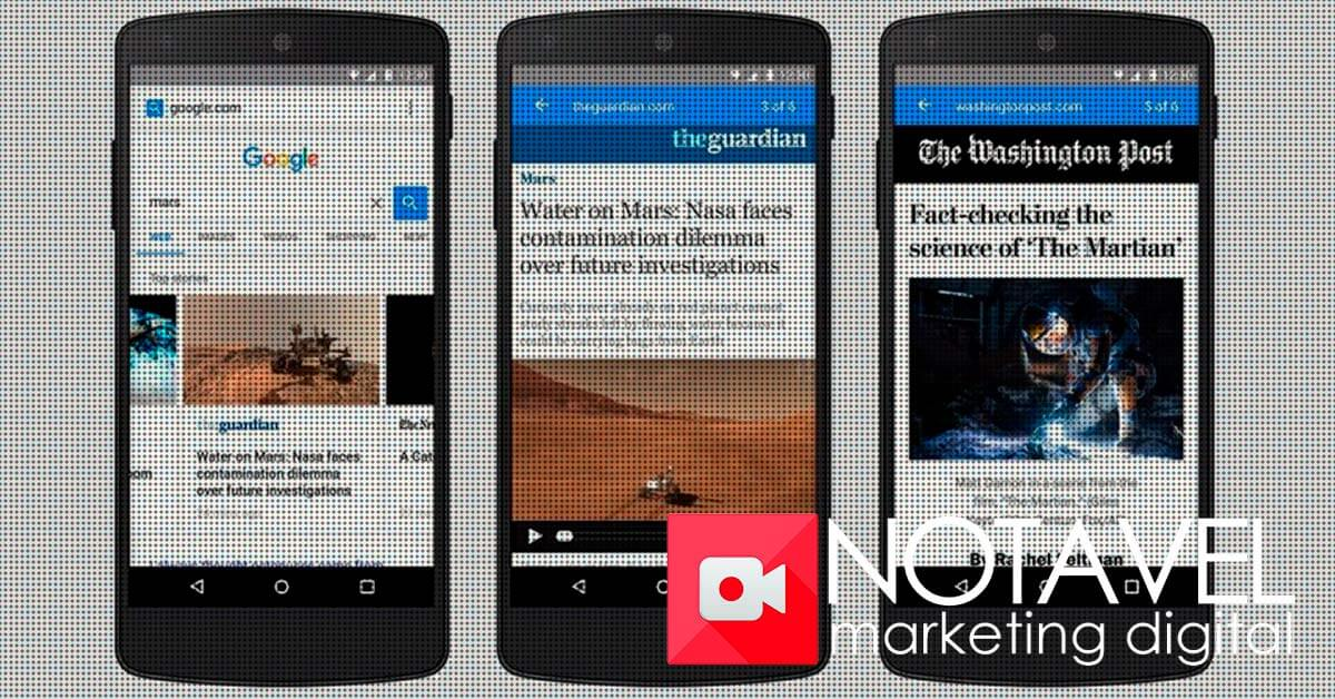 accelerated mobile pages project carta na manga do google