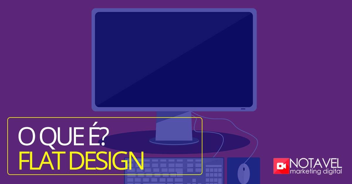o que e flat design